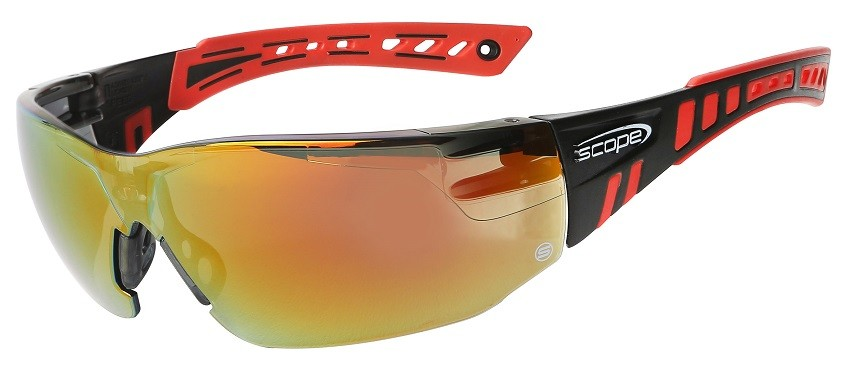 Speed Red Mirror Safety Glasses